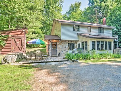 Photo for Secluded Pocono Lake Cottage w/Hot Tub & Fire Pit!