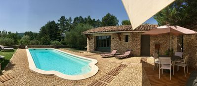 Photo for NEW: Charming stone-built house in Gordes, private pool, very quiet, views