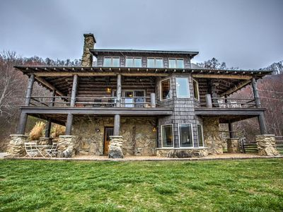Photo for Big Timber; nestled amongst Three Bear Holler; log home, awesome views, mountain privacy.