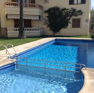 Photo for THREE BEDROOM, GROUND FLOOR APARTMENT,  SLEEPS 6, SWIMMING POOL, CLOSE TO BEACH