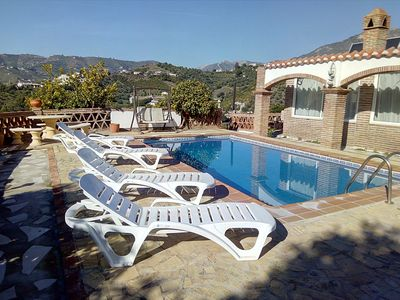 Photo for Country Villa with Private Pool- spectacular views. wifi playpark tabletennis