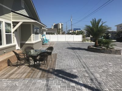 Photo for Spacious, Renovated Beach House with back yard and patio, steps from the water,