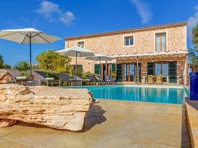 Photo for Stunning Villa Can Xesquet with Mountain View, Wi-Fi, Garden, Terrace & Balcony; Parking Available