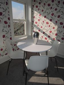 Living room dinning area with view toward the Spinnaker Tower