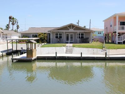 Photo for Canal Front home with beautiful view of setting sun from covered porch and from concrete dock