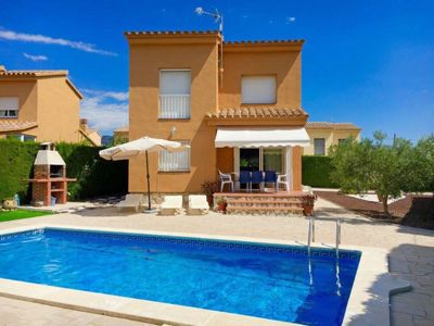 Photo for 3 bedroom Villa, sleeps 8 in Las Tres Cales with Pool and WiFi
