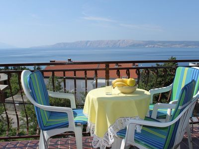 Photo for One bedroom apartment with balcony and sea view Novi Vinodolski (A-6567-c)