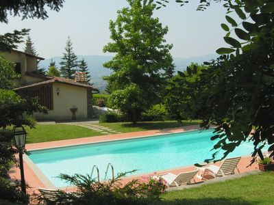 Photo for Beautiful private villa for 8 people with WIFI, private pool, TV, patio, panoramic view and park...