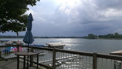 Photo for New - Lakefront Wall of Windows, Spectacular Sunset Views on Chain of 7 Lakes