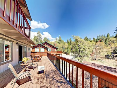 Photo for Blue Jay Chalet - Huge Deck, Hot Tub, Pool Table & Soaring Views of Bear Mtn