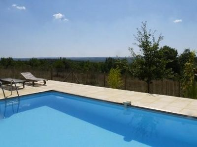Photo for House exceptional view very quiet 8km from St-Cirq-Lapopie pool 3 stars