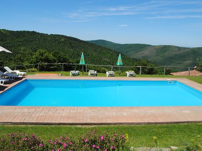 Photo for Ancient Villa in Tuscany-Umbria border, private pool. Incredible view!
