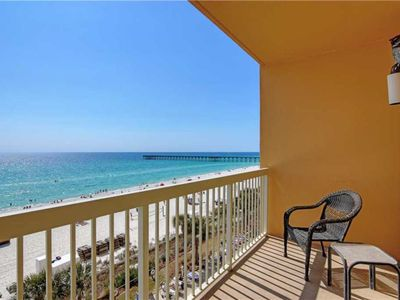 Photo for Stunning Calypso condo with private balcony and view of the Gulf