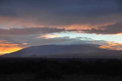 Sunrise over Mauna Kea from the deck. Great start to each morning.