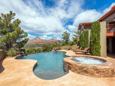 Photo for Sedona Vista Private Pool & Spa Red Rock Views, In Town Location 4BD 4BA