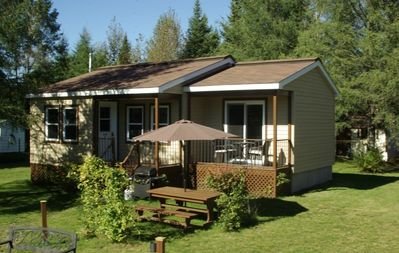 Photo for Emme Chalets-Iron, Hot Tub & Beach - Ste-lucie