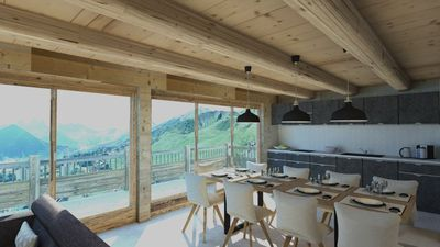 Photo for 5 attic bedrooms appartment on the ski slopes