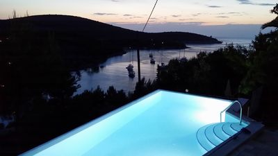Photo for A1 Apartment of villa Sonia & Teo, Hvar, Croatia with heated, infinity pool
