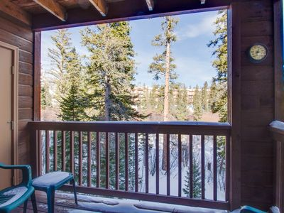 Photo for Immaculate, updated mountain condo w/ shared pool, hot tub & sauna - great views