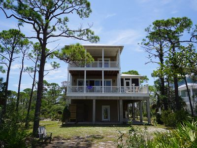 Photo for Beautiful St Joesph Bay front home w/500' dock and unique features.