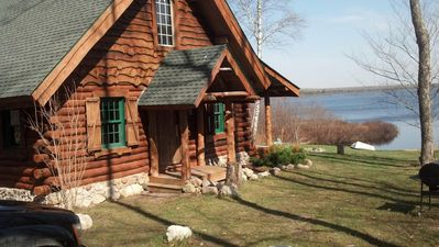 Photo for Log Cabin in Pristine Northern Woods and Water Private Retreat