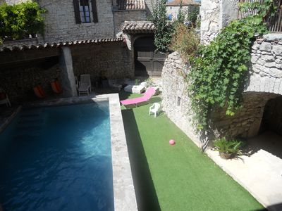 "Photo for ""La Glycine"" in Ardèche with heated pool in 1872 stone house"