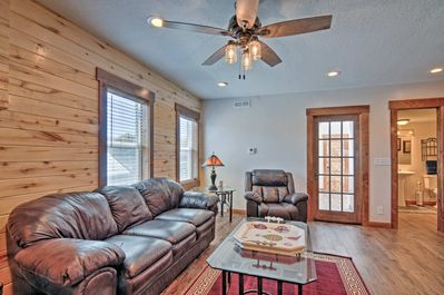 This remodeled home boasts 2 bedrooms and 1 bathroom.