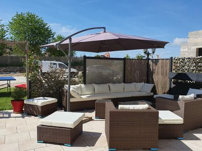 Photo for Spacious Holiday Home in Escardes with Jacuzzi