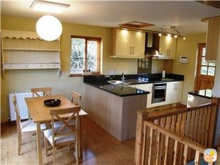 Modern well equipped kitchen dining area