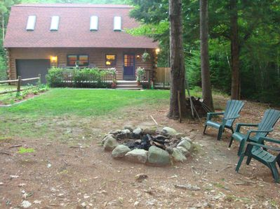 Back of Home with Outdoor Fire Pit