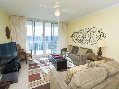 Photo for Beautiful Gulf Front Condo! Amazing Resort Amenities ~ Steps to the Beach!