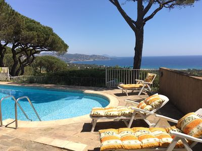 Photo for Provencal house with stunning views and swimming pool. Nice garden with trees.