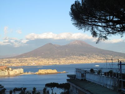 """Photo for POSILLIPO """"separate entrance"""" FS """"studio apartment with Terrace, ku, bathroom, 3 beds +1"""
