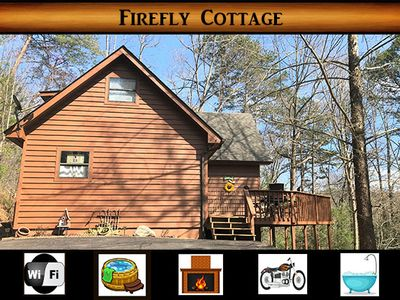 Photo for Firefly Cottage - WiFi / Hot Tub / Secluded / Motorcycle Friendly