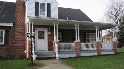 The Front of our house.  You are welcome to use the front porch at any time.
