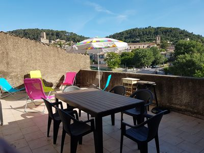 Photo for Apartment ** 75 m2, 2 bedrooms, 6 people, 30 m2 terrace with barbecue