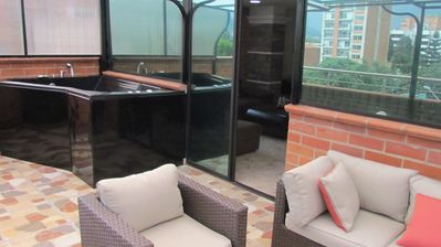 Photo for Lower Penthouse Balcony With Hot Tub AC