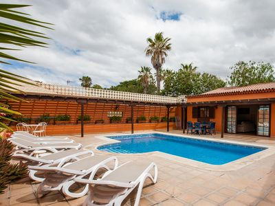 Photo for 3 Bedrooms And 2 Bathrooms With Large Heated Swimming Pool