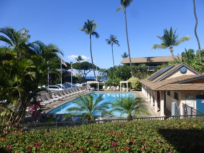 Large freshwater pool open until 9pm daily.  Free Wi-Fi available at the pool.
