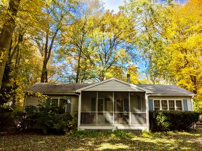 Photo for Perfect Fall Getaway*Walk to Private Beach*Pet-Friendly*Fire Pit