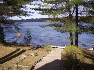 Photo for Bass Lk~Eagle River~Level to Water~Beautiful Sand Beach Front