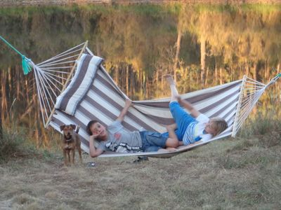 Photo for Go wild Cabin Camping & Fishing Private Lake & Forest. Dog Heaven !