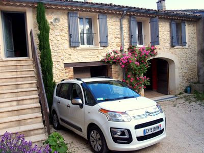 Photo for Near Nîmes, authentic village house in 2009 - Yard & Garden