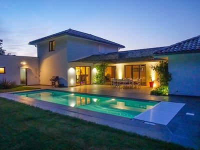Photo for FREEDOM Passive villa with heated pool near the beach