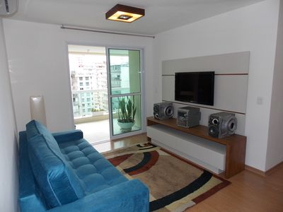 Photo for Well decorated Ap. 2Q (1 suite), garage, balcony view p Icaraí beach, swimming pools