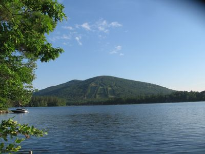 Lakefront with a view of Shawnee Peak