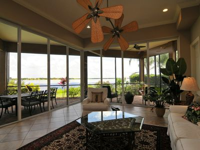 Family room opens to screened in lanai