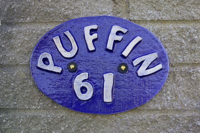 Puffin Name plaque