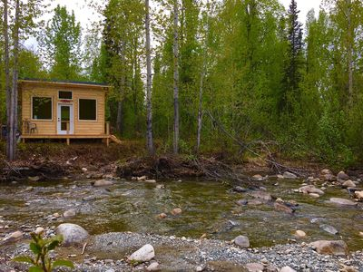 Photo for Private Riverfront Cabins Where You Can View Salmon From Mid July To September
