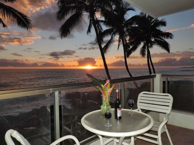Photo for Poipu Shores 201A, Oceanfront Bliss, Sunsets, Newly Upgraded